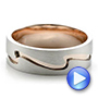 Custom Men's Two-Tone Rose Gold and Platinum Band - Interactive Video - 100819 - Thumbnail