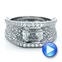 Custom Diamond Pave Engagement Ring - Interactive Video - 100837 - Thumbnail
