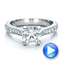 Custom Diamond Pave Engagement Ring - Interactive Video - 100853 - Thumbnail