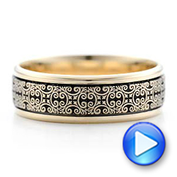 Men's Engraved Wedding Band - Video -  101051 - Thumbnail
