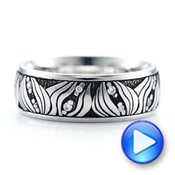 Women's Engraved Wedding Band - Interactive Video - 101058 - Thumbnail