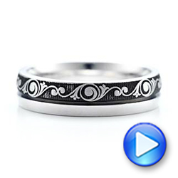 Women's Engraved Wedding Band - Interactive Video - 101064 - Thumbnail