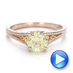 Custom Rose Gold and Champagne Diamond Engagement Ring - Interactive Video - 101103 - Thumbnail