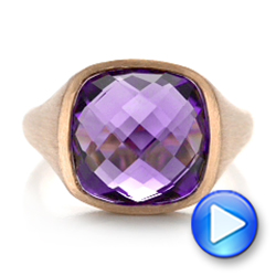 Amethyst and Rose Gold Ring - Interactive Video - 101173 - Thumbnail