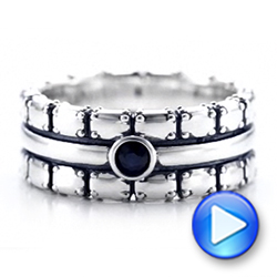 Men's Sterling Silver Brick Band - Video -  101179 - Thumbnail