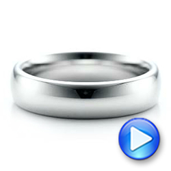 Men's Polished Domed White Tungsten Band - Interactive Video - 101193 - Thumbnail