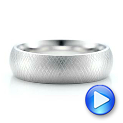 Men's Florentine Finish White Tungsten Band - Interactive Video - 101201 - Thumbnail