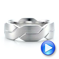 Men's Woven White Gold Band - Interactive Video - 101205 - Thumbnail