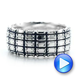 Men's Sterling Silver Brick Band - Video -  101207 - Thumbnail