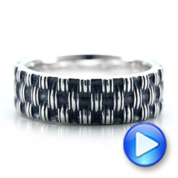 Men's Sterling Silver Woven Band - Interactive Video - 101210 - Thumbnail