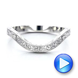 Custom Hand Engraved Wedding Band - Interactive Video - 101225 - Thumbnail