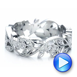 Platinum Custom Organic Diamond Eternity Band - Video -  101470 - Thumbnail