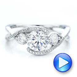 Custom Diamond Wrap Engagement Ring - Interactive Video - 101472 - Thumbnail