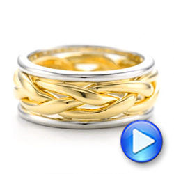 Two-Tone Braided Men's Band - Interactive Video - 101635 - Thumbnail