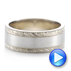 Custom Men's Two-Tone Wedding Band - Interactive Video - 101664 - Thumbnail