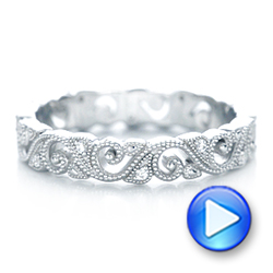 Diamond Organic Stackable Eternity Band - Interactive Video - 101888 - Thumbnail