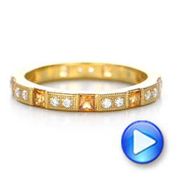 Diamond and Yellow Sapphire Stackable Eternity Band - Interactive Video - 101896 - Thumbnail