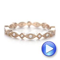 Rose Gold Diamond Stackable Eternity Band - Interactive Video - 101897 - Thumbnail