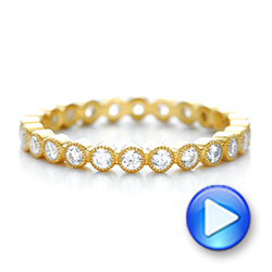 Yellow Gold Stackable Diamond Eternity Band - Interactive Video - 101906 - Thumbnail