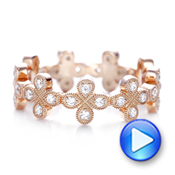 Flower Diamond Stackable Eternity Band - Interactive Video - 101911 - Thumbnail