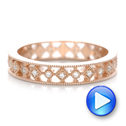 Bezel Set Diamond Stackable Eternity Band - Interactive Video - 101916 - Thumbnail