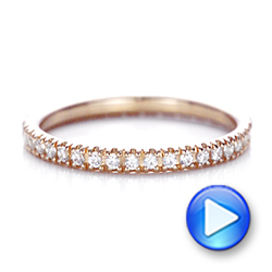 Rose Gold Diamond Stackable Eternity Band - Interactive Video - 101927 - Thumbnail