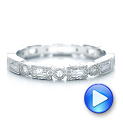 Round and Baguette Diamond Stackable Eternity Band - Interactive Video - 101945 - Thumbnail