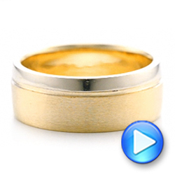 Custom Two-Tone Men's Wedding Band - Interactive Video - 101950 - Thumbnail