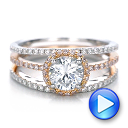 Pink and White Diamond Bridal Set - Interactive Video - 101956 - Thumbnail