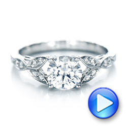 Tri-Leaf Diamond Engagement Ring - Interactive Video - 101989 - Thumbnail