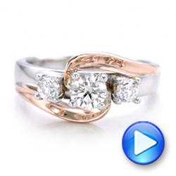 Custom Two-Tone Diamond Engagement Ring - Interactive Video - 101992 - Thumbnail