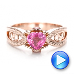 Custom Pink Sapphire and Diamond Ring - Interactive Video - 102007 - Thumbnail