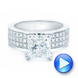 Pave Diamond Engagement Ring - Interactive Video - 102017 - Thumbnail