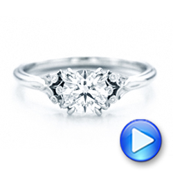 Platinum Platinum Custom Diamond Engagement Ring - Video -  102024 - Thumbnail