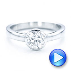 Custom Solitaire Diamond Engagement Ring - Interactive Video - 102029 - Thumbnail
