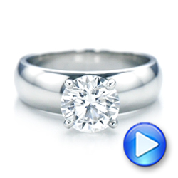 Custom Solitaire Diamond Engagement Ring - Interactive Video - 102030 - Thumbnail