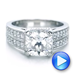 Custom Diamond Engagement Ring - Interactive Video - 102042 - Thumbnail
