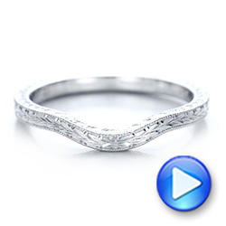 Custom Hand Engraved Wedding Band - Interactive Video - 102047 - Thumbnail