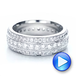 Custom Eternity Diamond Wedding Band - Interactive Video - 102058 - Thumbnail