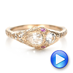 Custom Ouroboros Snake Engagement Ring - Interactive Video - 102066 - Thumbnail