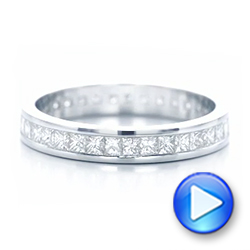 Custom Diamond Eternity Wedding Band - Interactive Video - 102096 - Thumbnail