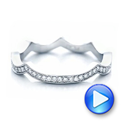Custom Diamond Wedding Band - Interactive Video - 102121 - Thumbnail