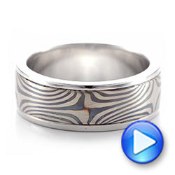 Men's Mokume Wedding Band - Video -  102130 - Thumbnail