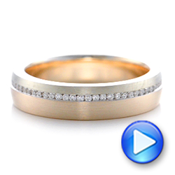 Custom Diamond Eternity Two-Tone Wedding Band - Interactive Video - 102133 - Thumbnail