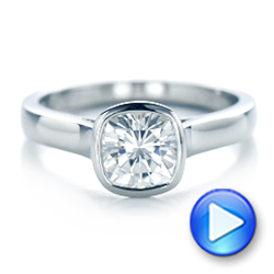 Custom Solitaire Engagement Ring - Interactive Video - 102154 - Thumbnail