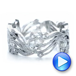 Custom Organic Diamond Eternity Band - Interactive Video - 102159 - Thumbnail