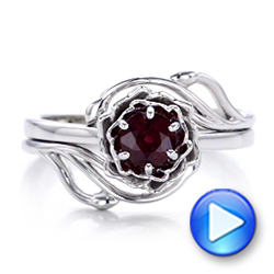 Custom Solitaire Ruby Engagement Ring - Interactive Video - 102160 - Thumbnail