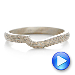 Custom Mokume Wedding Band - Interactive Video - 102168 - Thumbnail