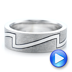 Custom Brushed and Polished Men's Band - Interactive Video - 102174 - Thumbnail