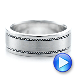 Platinum Platinum Custom Cable And Brushed Finish Unisex Band - Video -  102183 - Thumbnail